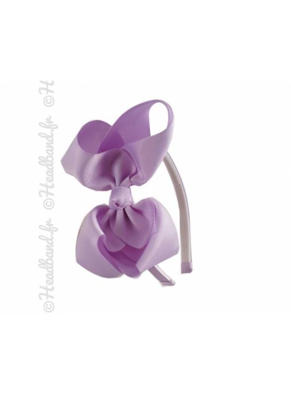 Serre-tête noeud ruban violet