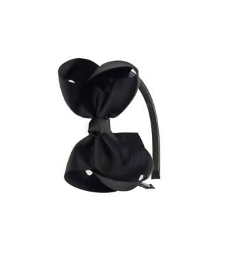Serre-tête noeud ruban noir