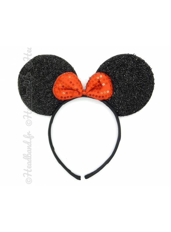 Serre-tête oreilles minnie noir
