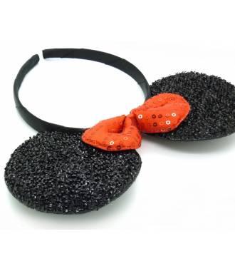 Serre-tête oreilles minnie noir 2