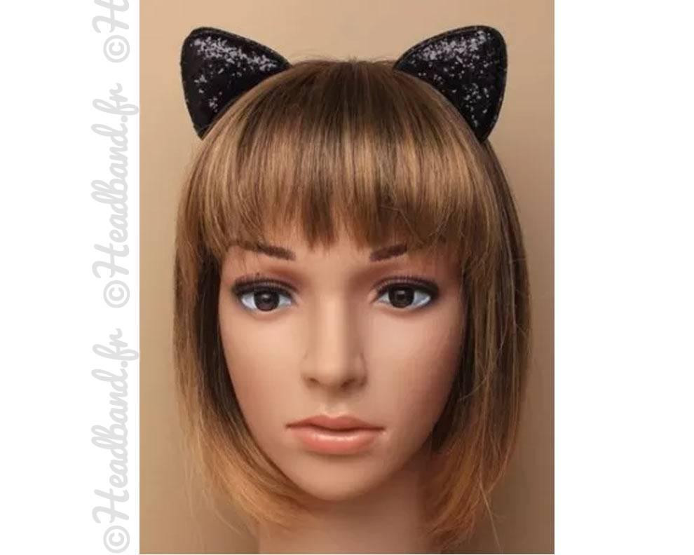 Serre t te oreilles chat paillet - Oreille de chat serre tete ...
