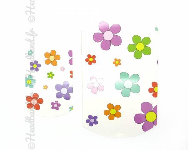 Berlingot cadeau imprimé fleurs