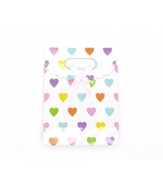 Pochette cadeau motifs coeur