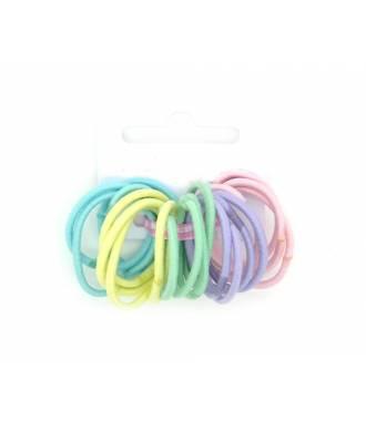 Mini-élastiques pastel x 20