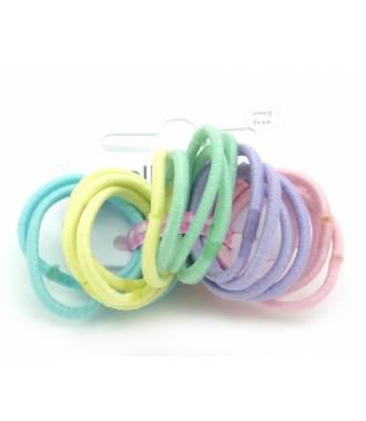 Mini-élastiques pastel x 20 zoom