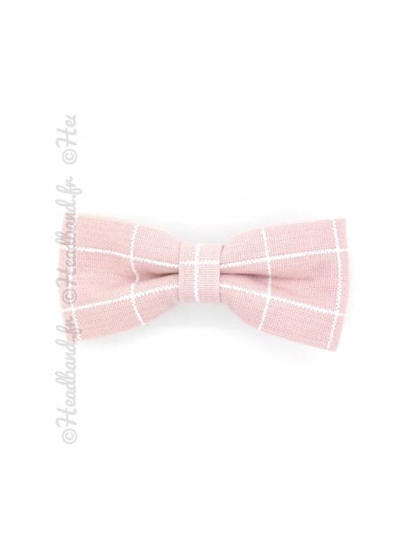 Noeud motif tartan rose
