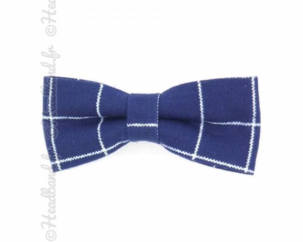 Noeud motif tartan bleu