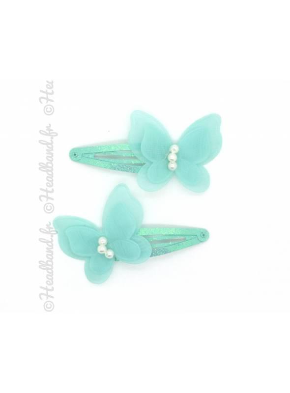 Paire pinces butterfly vert