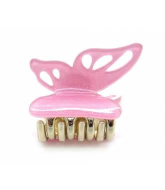 Pince crabe papillon rose