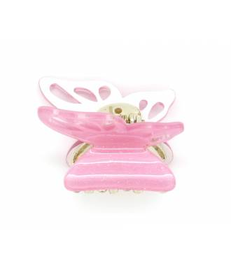 Pince crabe papillon rose zoom