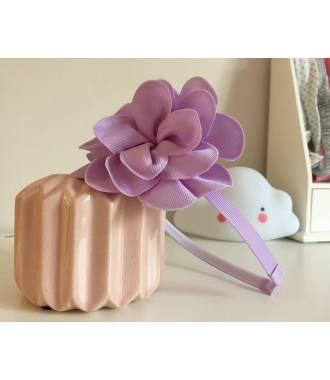 Serre-tête fleur enfant violet