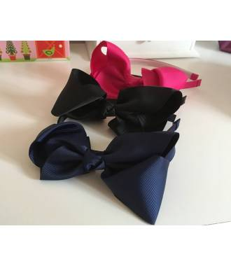 Serre-tête noeud ruban bleu