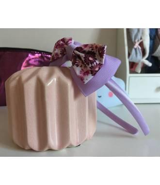 Serre-tête fille fleuri violet