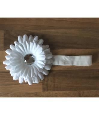 Bandeau chrysanthème blanc
