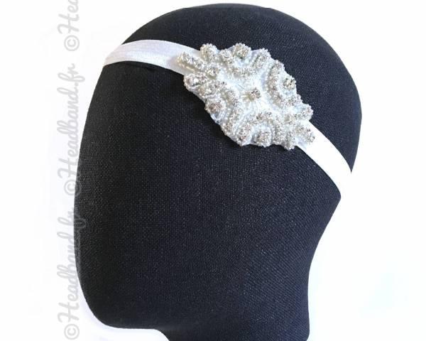 Bijou de tête élégant à cristaux