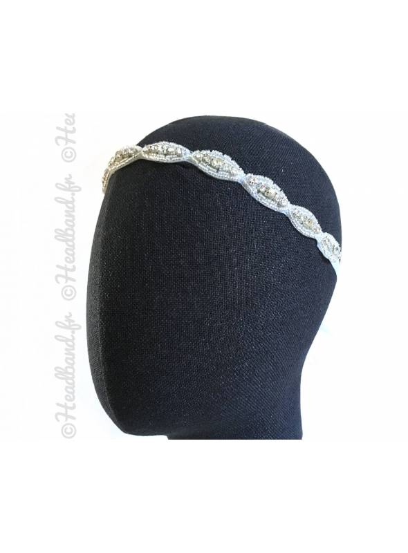 Headband mariage simple à nouer