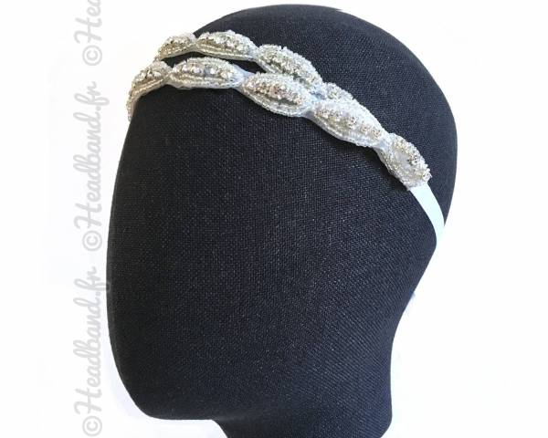 Headband mariage double à nouer