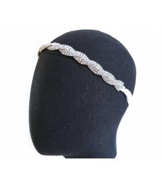 Headband cristaux torsadé 1,3 cm