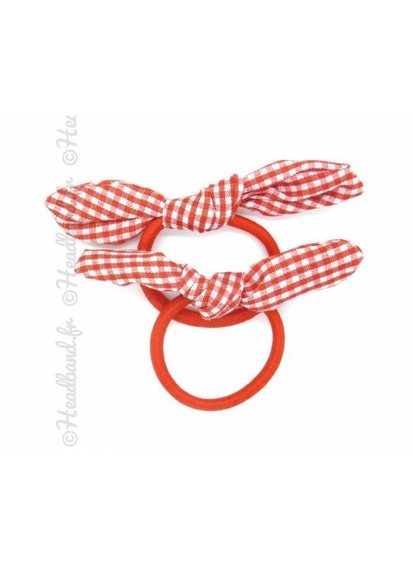 Chouchou noeud vichy rouge