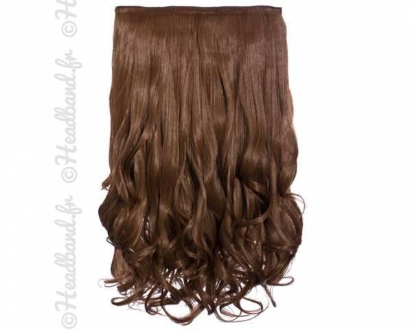 Extension cheveux monobande ondulée 45 cm - Châtain doré