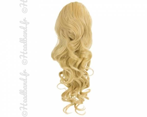 Ponytail ondulée - Blond clair