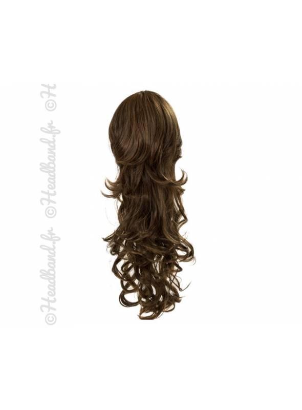 Maxi ponytail bouclée - Brunette