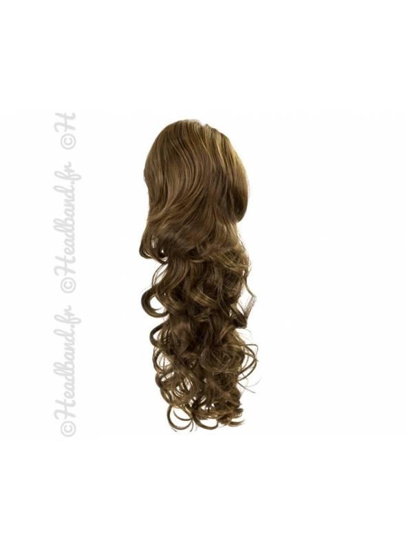 Maxi ponytail bouclée - Châtain caramel
