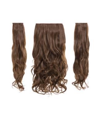 Kit extensions cheveux 3 bandes ondulées 50 cm - Châtain doré