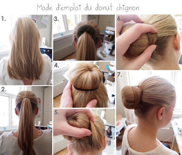 photo comment mettre donuts cheveux
