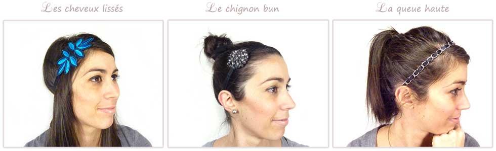 Des idées de coiffure avec un headband