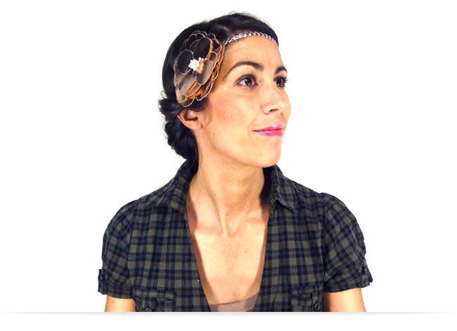 Comment porter le headband en chignon