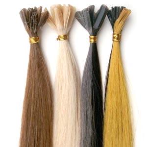 extensions de cheveux à la kératine