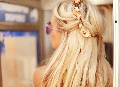 Headband cheveux à fleur