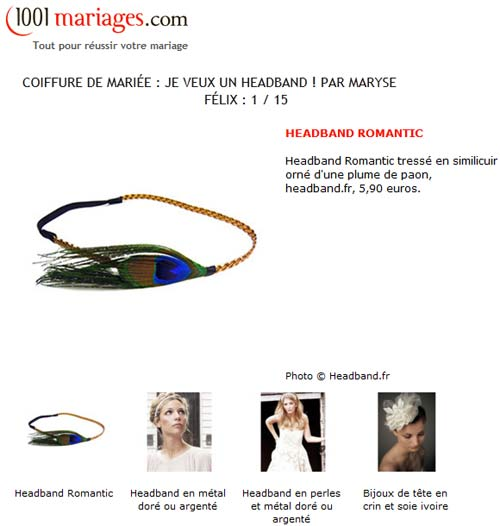 Le headband romantic par 1001mariages.com