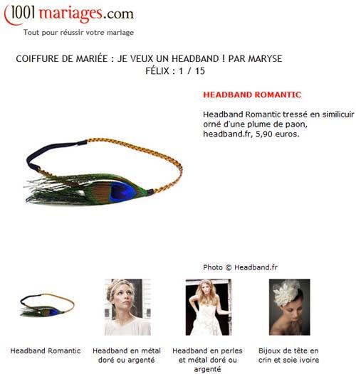 Le headband romantic par 1001mariages.com
