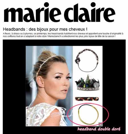 Headband.fr dans la sélection shopping de marie claire