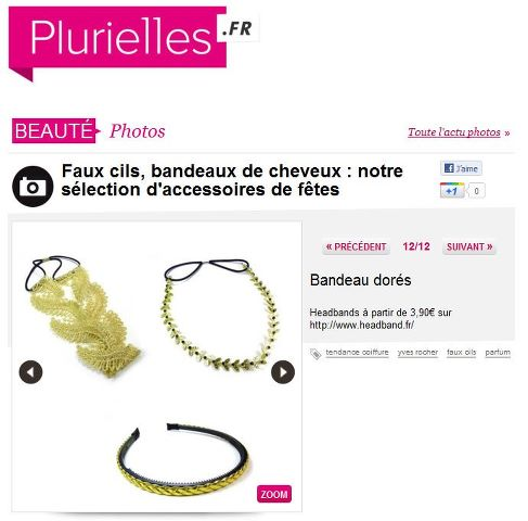 Headband.fr sélection dans Plurielles