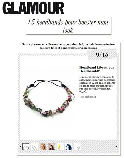 Headband.fr dans la sélection shopping de Glamour