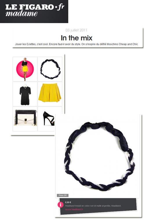 Parution du headband glamour de Headband.fr sur Le Figaro madame