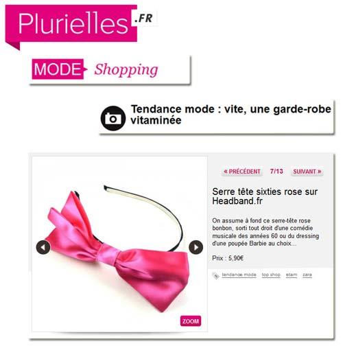 Headband.fr dans la sélection shopping de Plurielles
