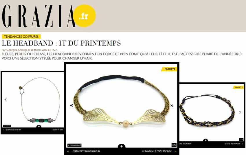 Headband.fr dans une sélection headband de Grazia.fr